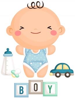 Baby boy и игрушки