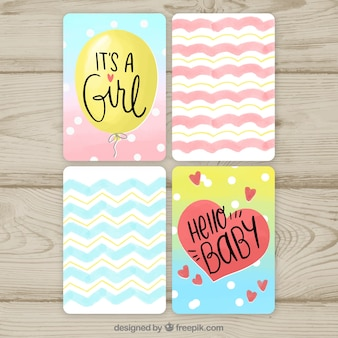 Baby cards collection with patterns