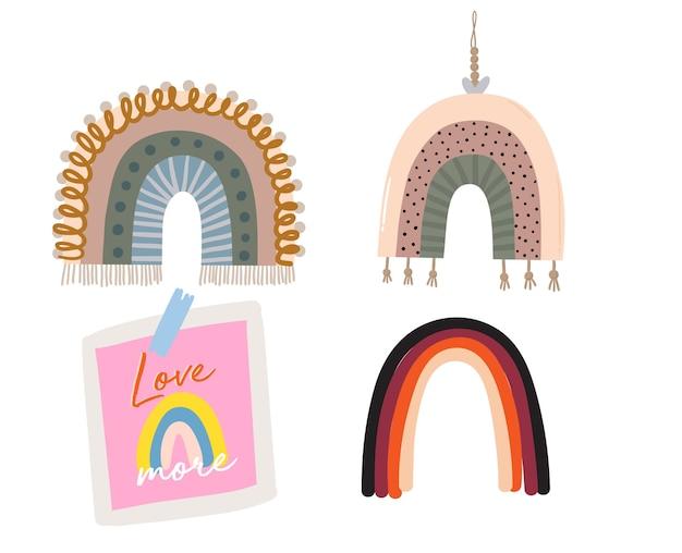 赤ちゃんかわいいレインボーグラフィックイラスト。テンプレートカード。グリーティングカード、印刷、diyプロジェクト、ブログ、ありがとうカードに最適