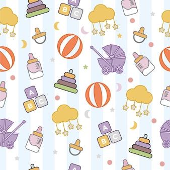 Baby cute seamless pattern