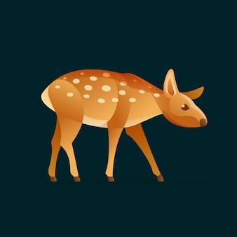 Детеныш оленей. дизайн животных