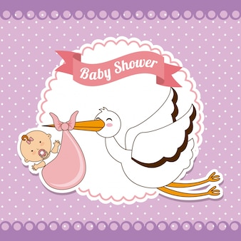 Baby design over purple background vector illustration