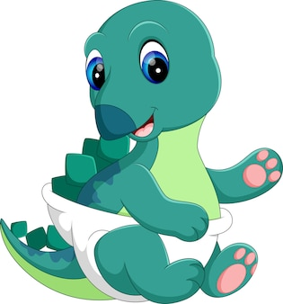 Baby dinosaur cartoon
