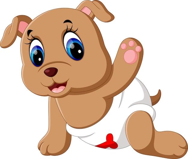 Baby dog cartoon