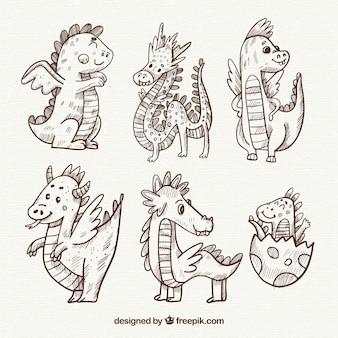 Baby dragon character collection