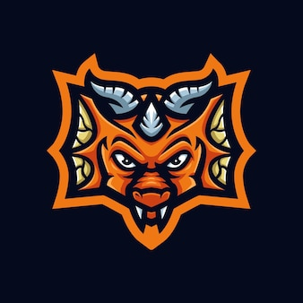 Baby dragon gaming mascot logo for esports streamer and community