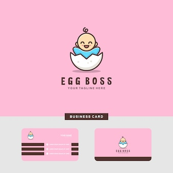 Baby egg logo and business card