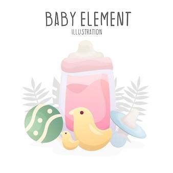 Baby element illustration