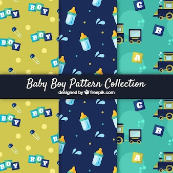Baby elements patterns collection