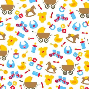 赤ちゃんの要素のベクトルの背景