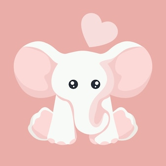 Baby elephant card for valentines