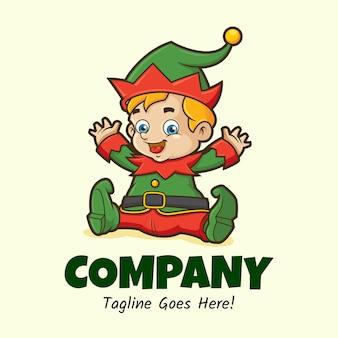 Baby elf mascot