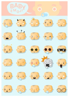 Baby emoji icons