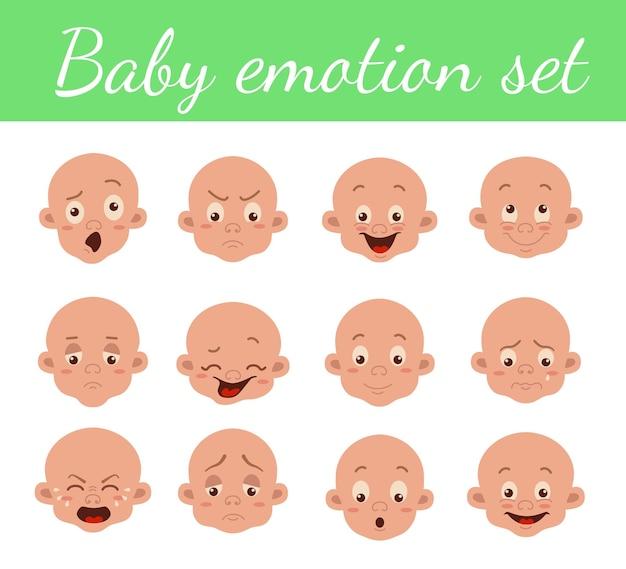 아기 표정 격리 아이콘