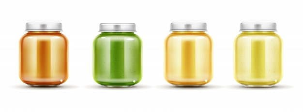Baby food jars set