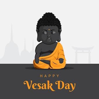 Baby gautam buddha meditating on vesak day