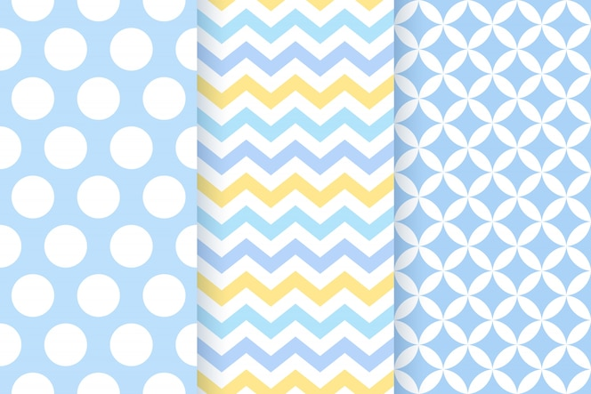 Baby geometric seamless pattern