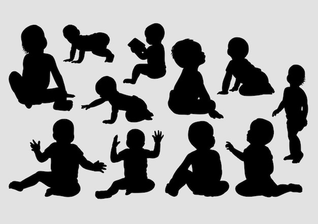 Baby gesture silhouette