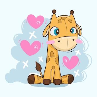 Детский жираф идеально подходит для детского душа
