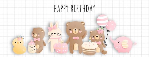Baby girl birthday baby shower banner