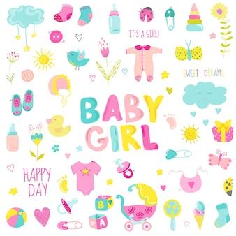 女の赤ちゃんのデザイン要素