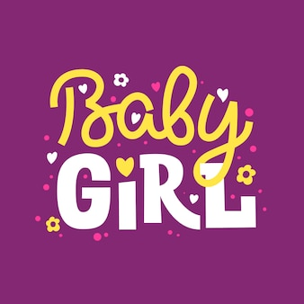 Baby girl. funny lettering