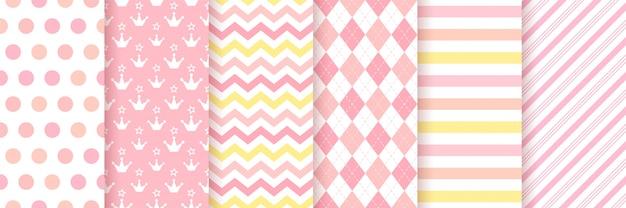 Baby girl pattern. baby shower seamless