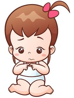 Baby girl sad