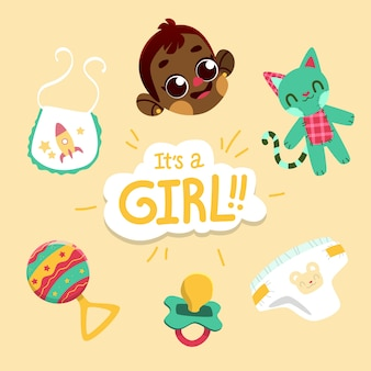 Baby girl shower concept