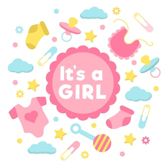 Baby girl shower event design