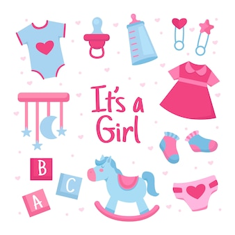 Baby girl shower theme