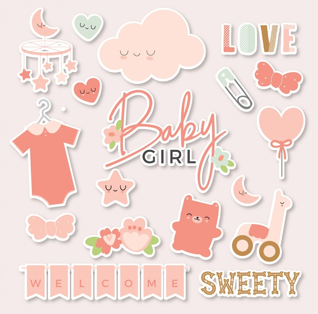 Baby girl sticker pack