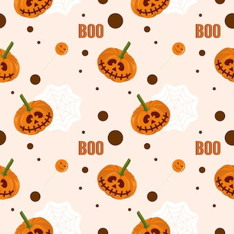 Baby halloween mummy and star seamless pattern