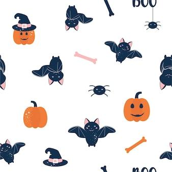 Baby halloween seamless pattern