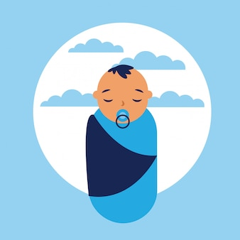 Baby icon, flat style