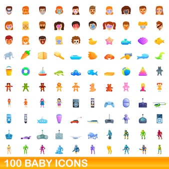Baby icons set. cartoon illustration of  baby icons  set  on white background