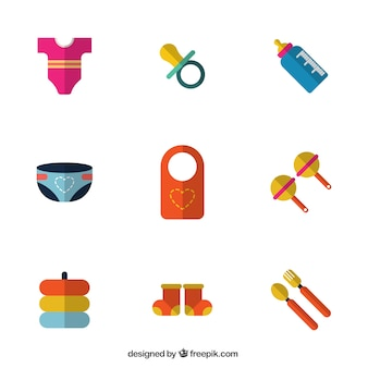 Детские товары в плоской конструкции