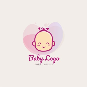 Baby logo cartoon template for baby shop