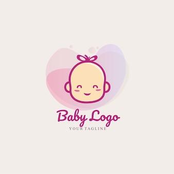 ベビーショップの赤ちゃんのロゴの漫画のテンプレート