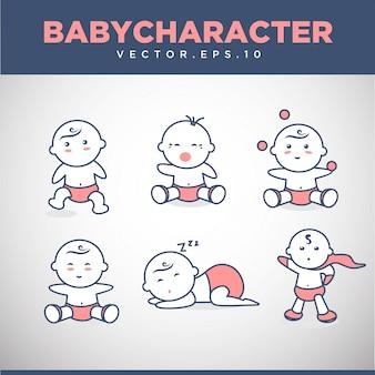 Шаблон коллекции логотипов baby