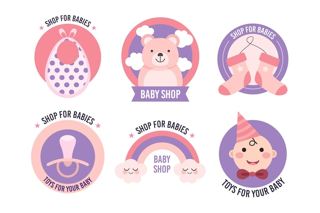 Baby logo collection template