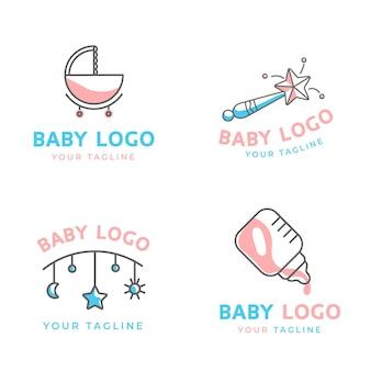 Шаблон коллекции детских логотипов