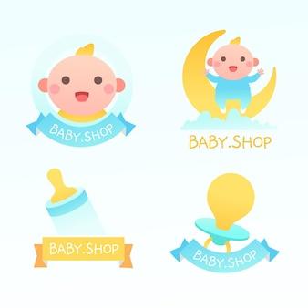 Modello di raccolta logo bambino