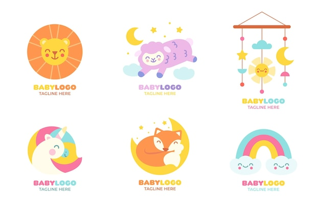 Baby logo template collection