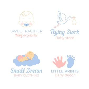 Коллекция шаблонов детских логотипов