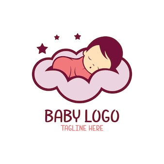 Baby logo template isolated