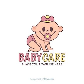 Modello di logo del bambino