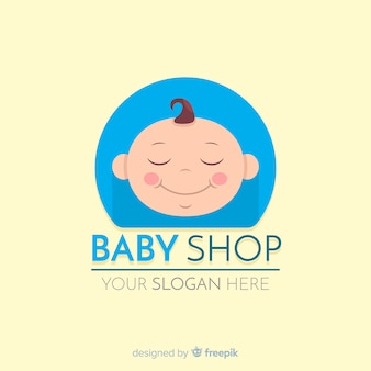 Baby logo template