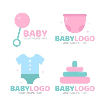 赤ちゃんのロゴテンプレートパック
