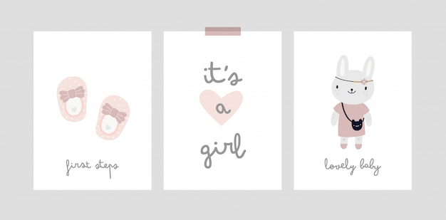 Baby milestone card. its a girl. baby shower print capturing all the special moments